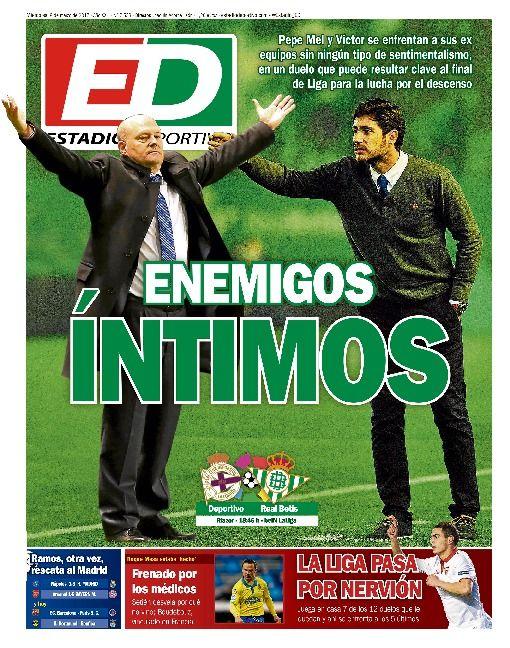 Portada del diario deportivo Estadio Deportivo del 08 de marzo de 2017