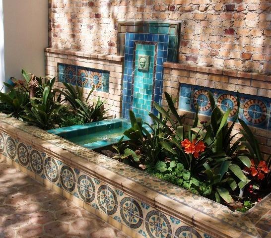 Outdoor Wall Fountain Ideas Flower
