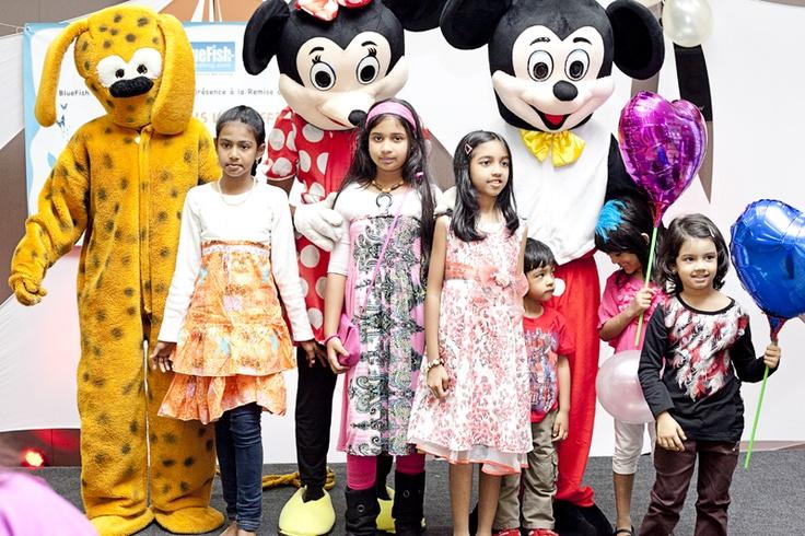 Kids with Marsupilami, Mickey & Minnie...