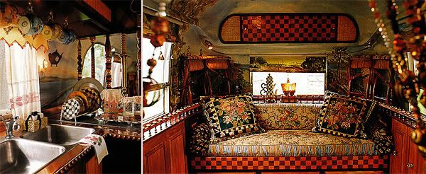 Mackenzie-ChildsVintage Trailers, Buckets Lists, Airstream Interior, Mackenzie Child, Travel Trailers, Bucket Lists, Airstream Trailers, Vignettes Design, Vintage Campers