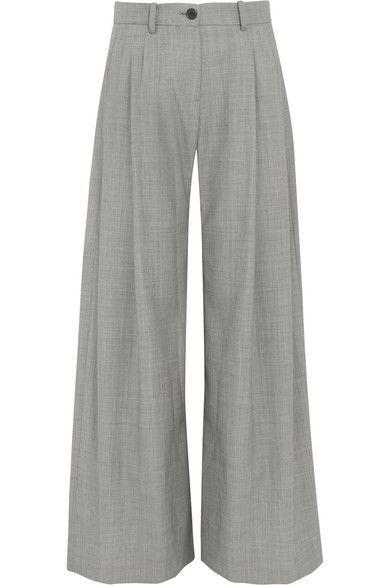 Nili Lotan - Inez Wool Wide-leg Pants - Gray