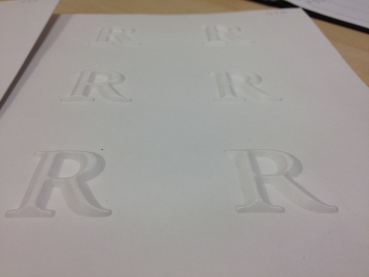 Crisp, defined lettering is possible with Billerud Fibreform.