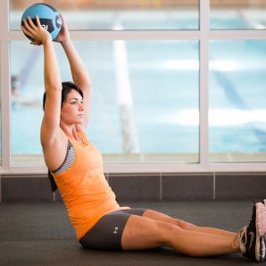 med ball core and ab exercises at LA Fitness JPG_
