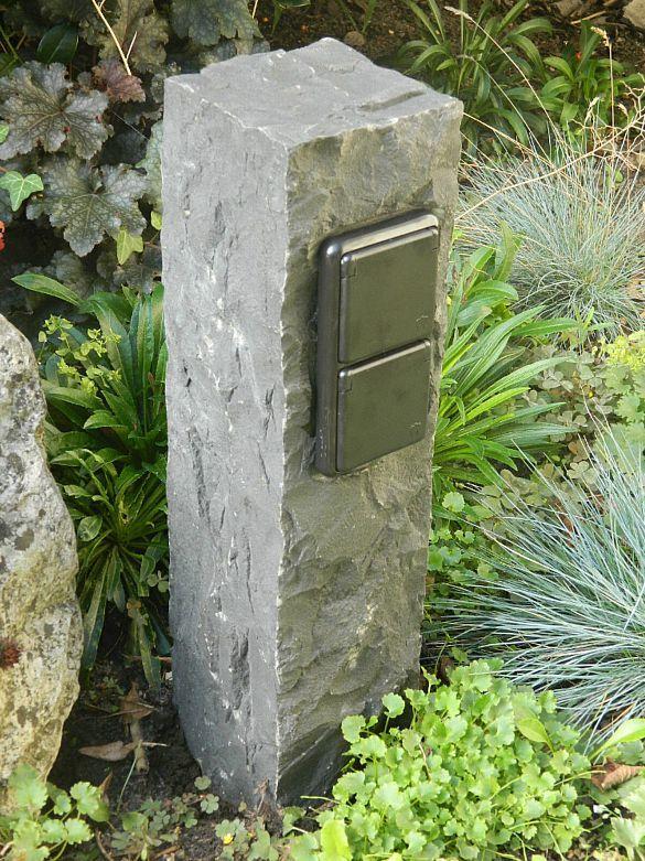 Doppelte Aussensteckdose Aus Basalt Echter Naturstein Gartensteckdose Steckdose Kaufen Bei Hood De Gartensteckdose Aussensteckdose Wasserhahn Garten