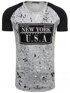 Bolf Herren T-Shirt Grau 1851 Bild 2