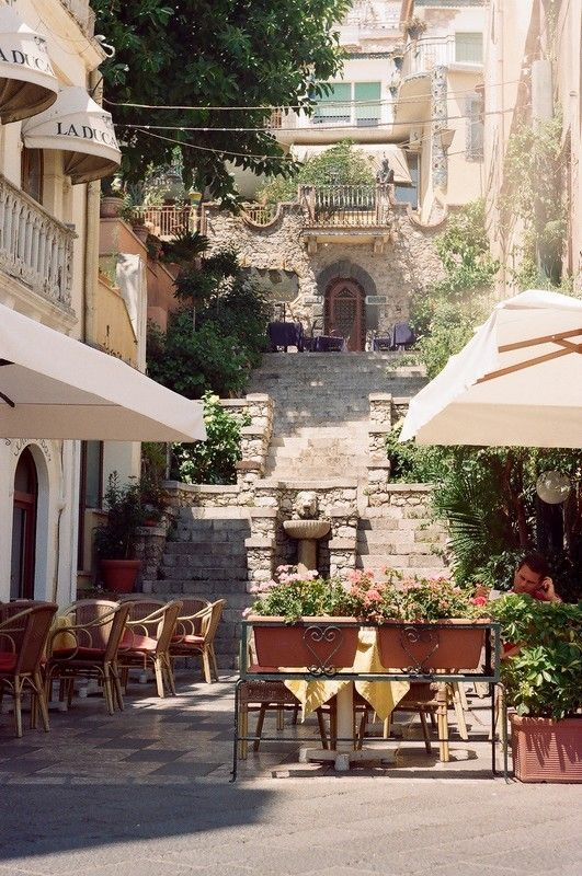 Taormina, SicilyBuckets Lists, Favorite Places, Sicily Italy, Beautiful Places, Visit, Italy Travel, Taormina Sicily, Stairways, Italy