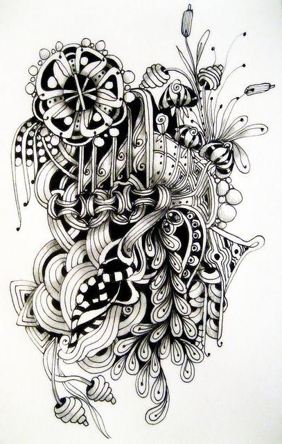 Love her Zentangles: Pretty Drawing, Zentangles Doodles, Photo Sharing, Hanging Flower, Zentangle Doodle, Doodles Zentangles