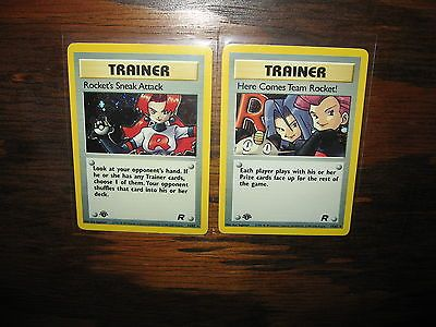 MINT FIRST EDITION Duo Pokemon TEAM ROCKET holographic 1st HOLO stocking stuffer