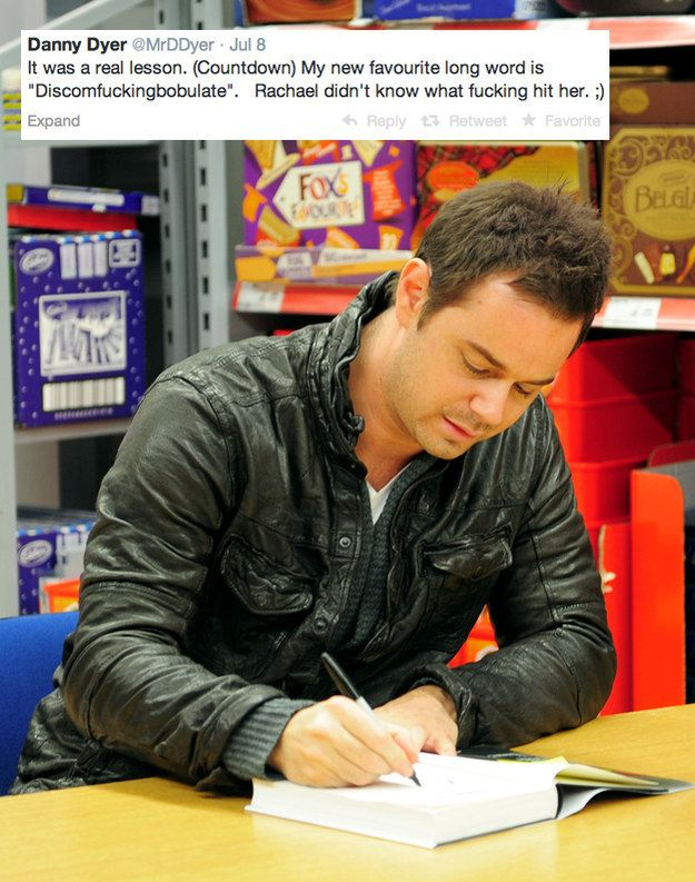That time he taught everyone at Countdown a brand new word. | The 26 Most Brilliantly Danny Dyer Tweets Of All Time