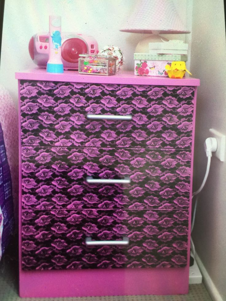 The chest of draws I painted for Chloe