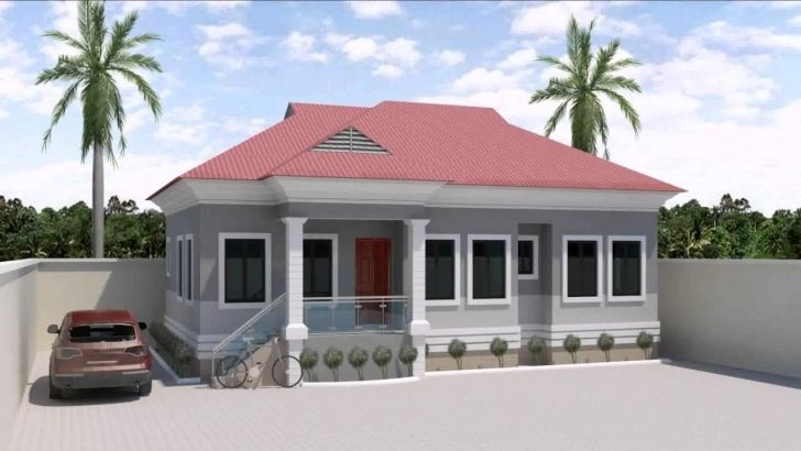 Exquisite 3 Bedroom Bungalow House Designs In Nigeria Youtube 3 Bedroom Flat Plan View In 2020 Bungalow House Design Bungalow Floor Plans Bungalow House Floor Plans