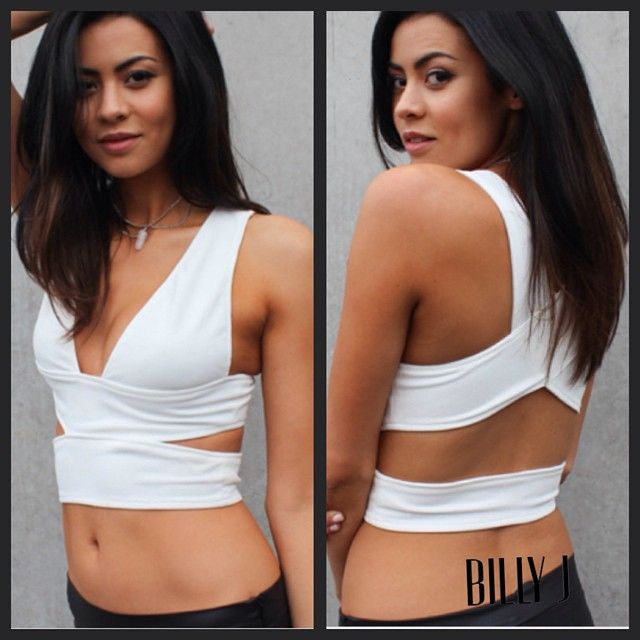 Cara crop in white and black available now. Perfect spring / summer staple only $39.95