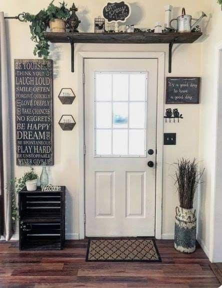 Love that shelf above the door