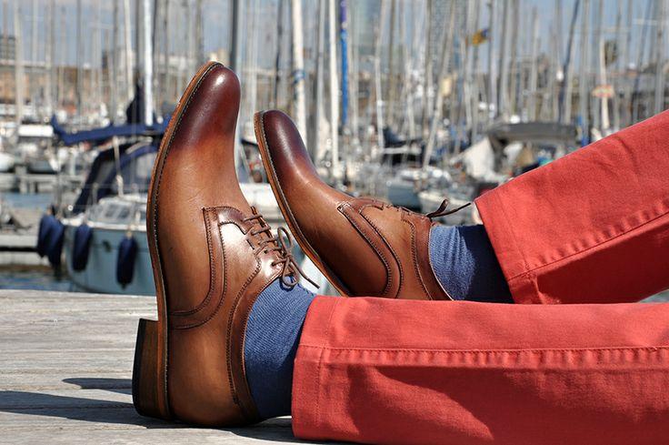 Buty podwyższające marki #Betelli wykonane z naturalnej skóry, oryginalny charakter uzyskano dzięki cieniowanym detalom