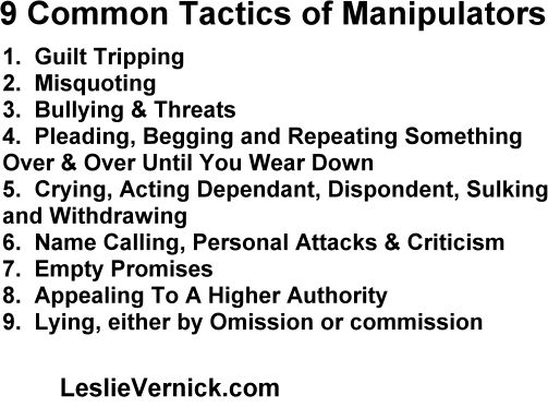 9 common Tactics Manipulators use against you. #