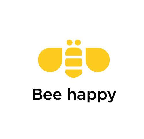 Bee happy #logo #bee #honey | Design | Pinterest