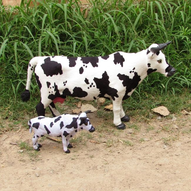 (63.07$)  Buy here - http://aivut.worlditems.win/all/product.php?id=32704210478 - big and small simulation cow toys creative handicraft cow model gift about 52cm,22cm