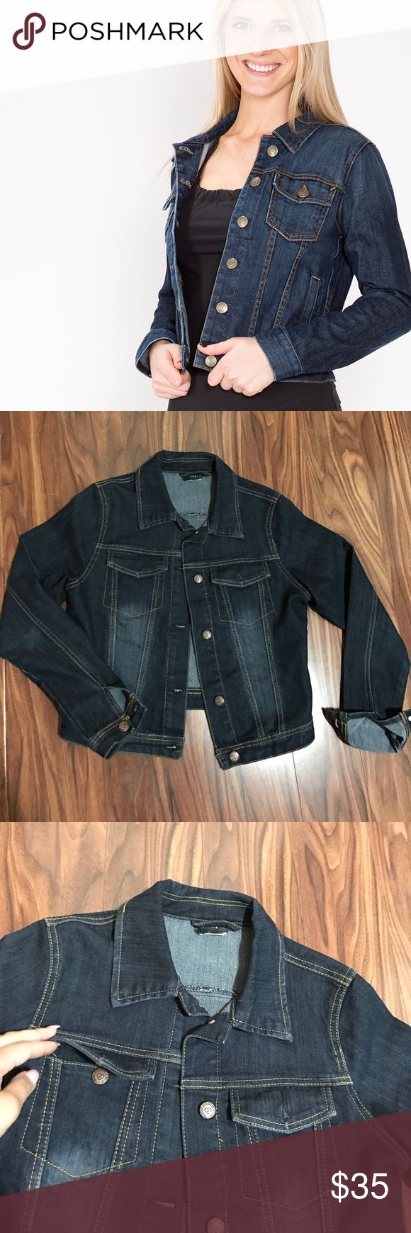 🔥WEEKEND SALE🔥dark denim jacket Luxurie brand size M amazing condition. Super comfortable and cute. Bundle with 2 more items in my closet for 30% off Urban Outfitters Jackets & Coats Jean Jackets