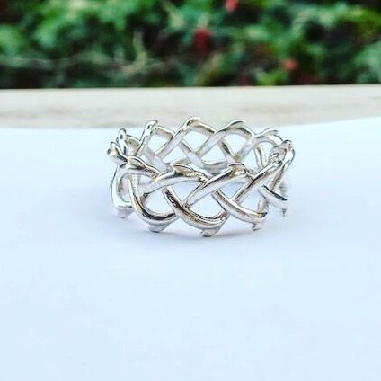 Crown of thorn silver ring #November #mood #instajewelry #jewelry #thorn #giftsforher #giftsforhim