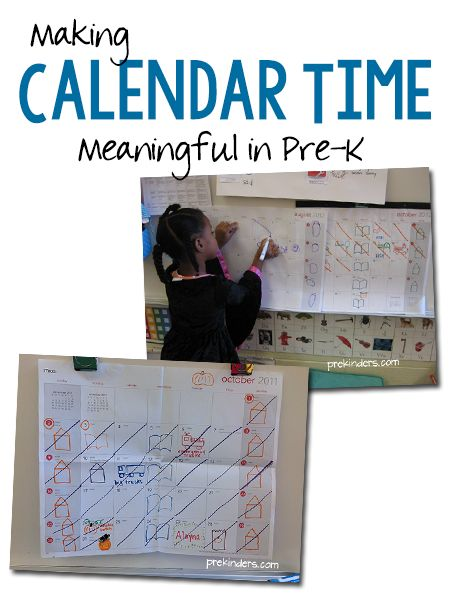 Great post about what makes sense for preschoolers during calendar time
