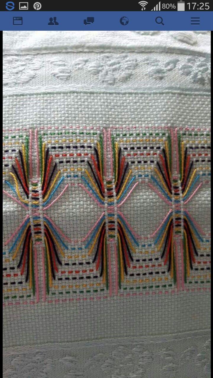 Huck Embroidery / Punto Yugoslavo / Swboredish Weaving / Bordado Vagonite