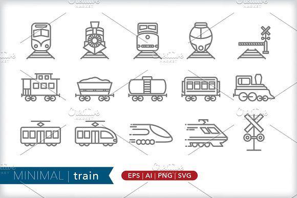 Minimal Train Icons Custom Icons Icon Social Media Images