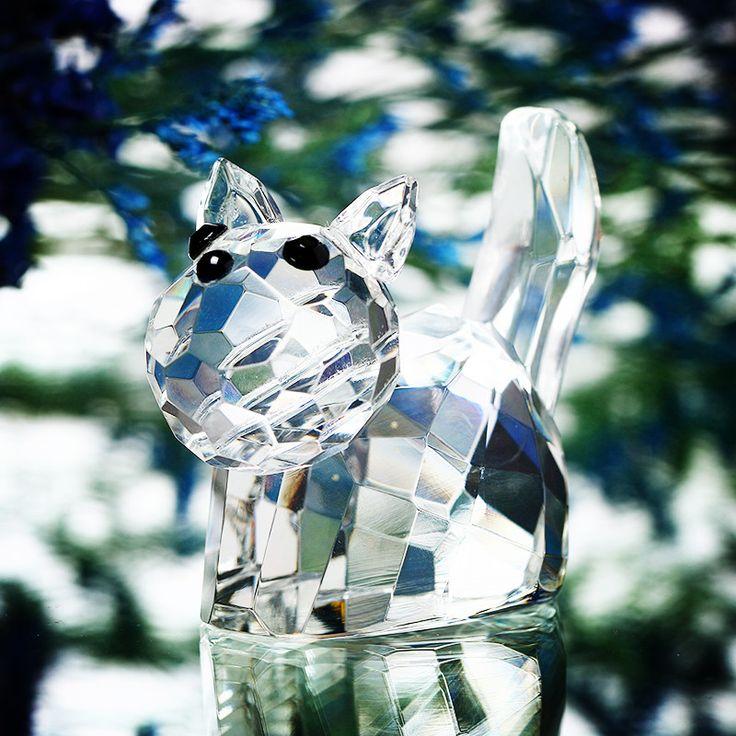 2 inch Clear Kat Beeldjes Presse-papier Glas Kristal Ambachten Art & Collectie Tafel Auto Ornamenten Souvenir Thuis Bruiloft Decoratie