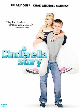 A Cinderella Story [PN1997 .C56 2004]  	High school senior Sam lives at the beck and call of her self-obsessed step-mother Fiona and her wicked step-sisters. With her sights set on attending Princeton, Sam finds her less-than-sparkling social life wonderfully complicated when she meets her Prince Charming online. But when her cyber soul mate turns out to her high school's ultra-popular quarterback Austin, Sam makes a mad dash back to reality.