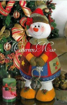 Moldes de Navidad Para Hacer Muñecos de Nieve Grandes