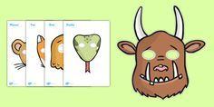 The Gruffalo Role Play Masks - The Gruffalo, resources, mouse                                                                                                                                                                                 Plus