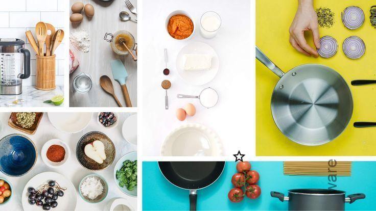 Collage Of Kitchen Utensils Cookware Uste Collage Des