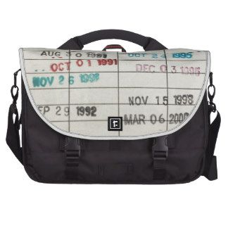 Vintage Library Due Date Cards Commuter Bags
