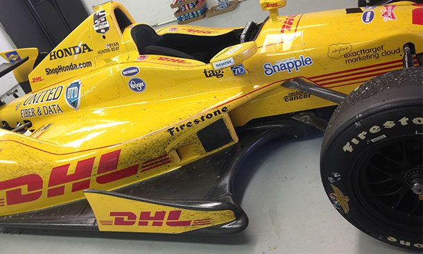 If Ryan Hunter-Reay's 2014 Indy 500-winning car could talk...