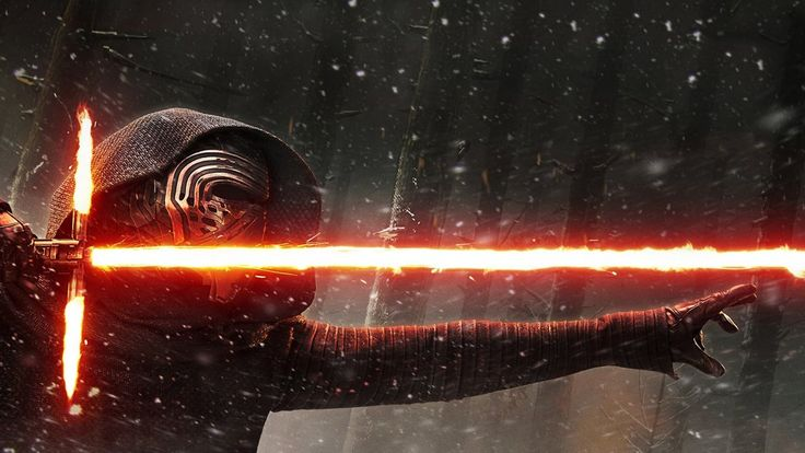 TFA Kylo Ren [Hi-Res Textless Wallpaper] by Lightsabered