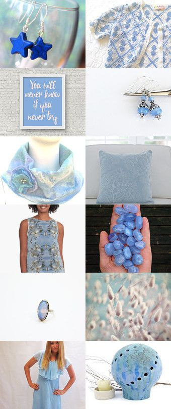 Dreamy Blues by Cathy on Etsy--Pinned+with+TreasuryPin.com