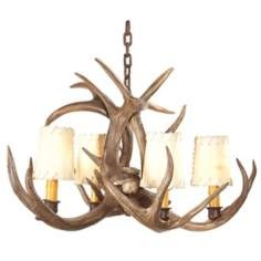 antler chandelier lamps plus