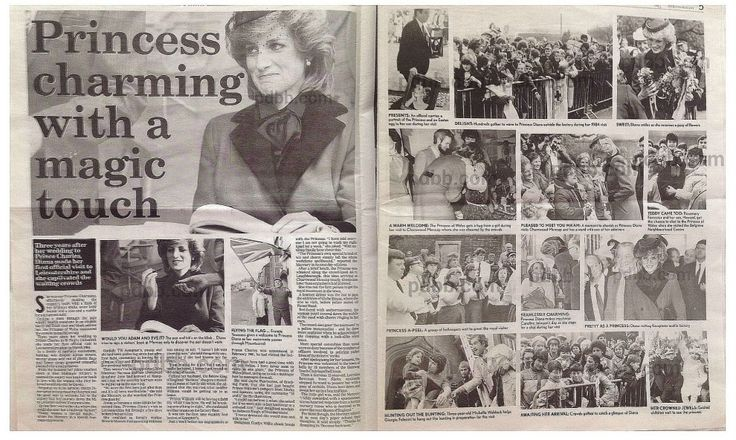 """March 22, 1984--Original Leicester Mercury Newspaper, """"Diana Weaves a Special Magic"""" March 23, 1984"""