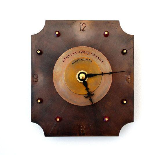 small wall clock wall decor gothic wall art metal clock steampunk