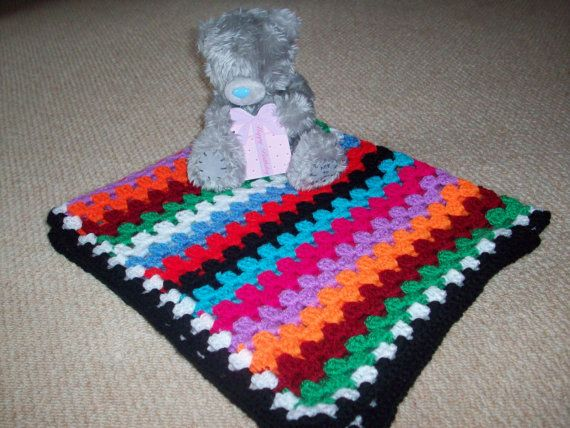 Crocheted baby cot blanket by CaroCraft321 on Etsy