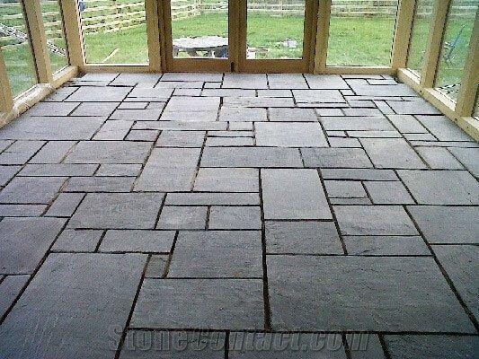 Dark Floor Tile Kitchen Slate Option