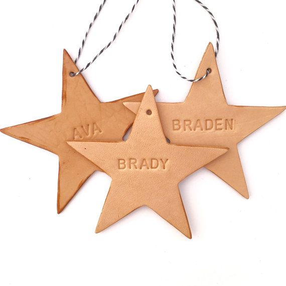 Leather Star Christmas Ornament by PurityLeatherCompany on Etsy