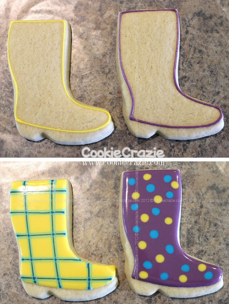 Rain boots by Cookie Crazie.  Look good for a rainy day to me!