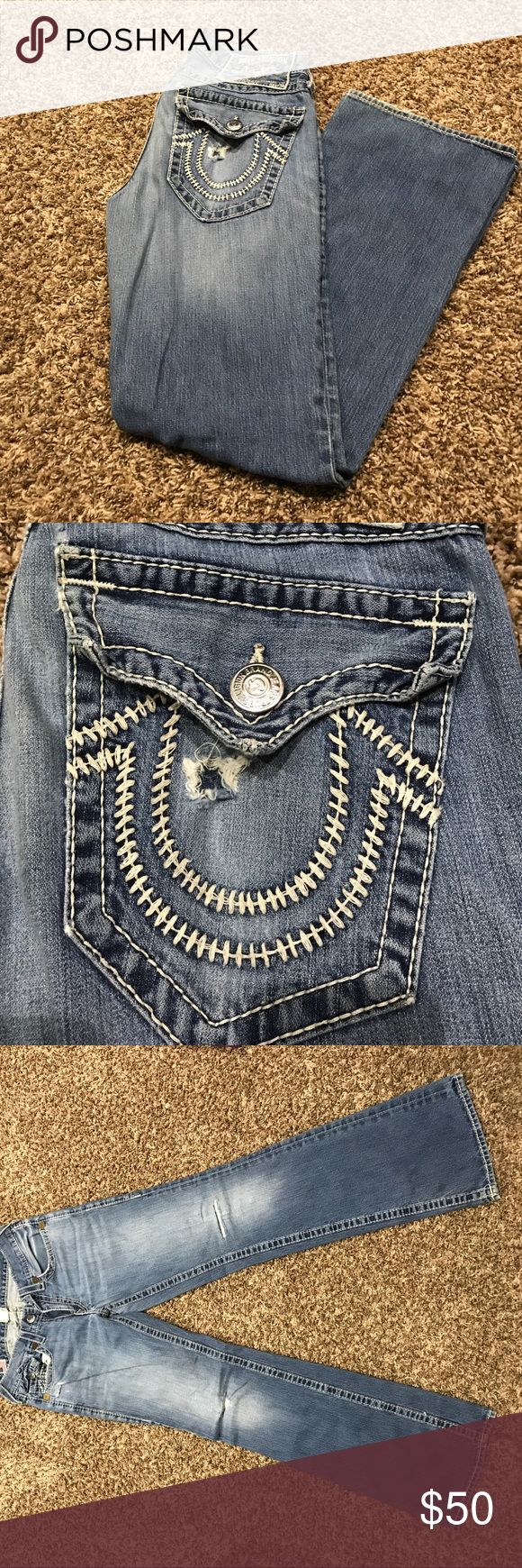 Mens true religion jeans Distressed men's true religion jeans. Good condition, only worn a few times True Religion Jeans Straight