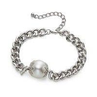 Intrigue Panzerarmband mit Perle
