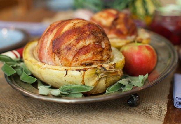 Squash-Roasted Bacon & Cranberry-Stuffed Turkey Roulade on www ...