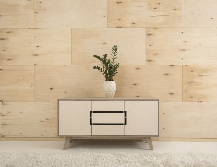 Natural plywood wall panels