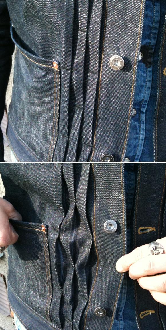 pleat front jacket