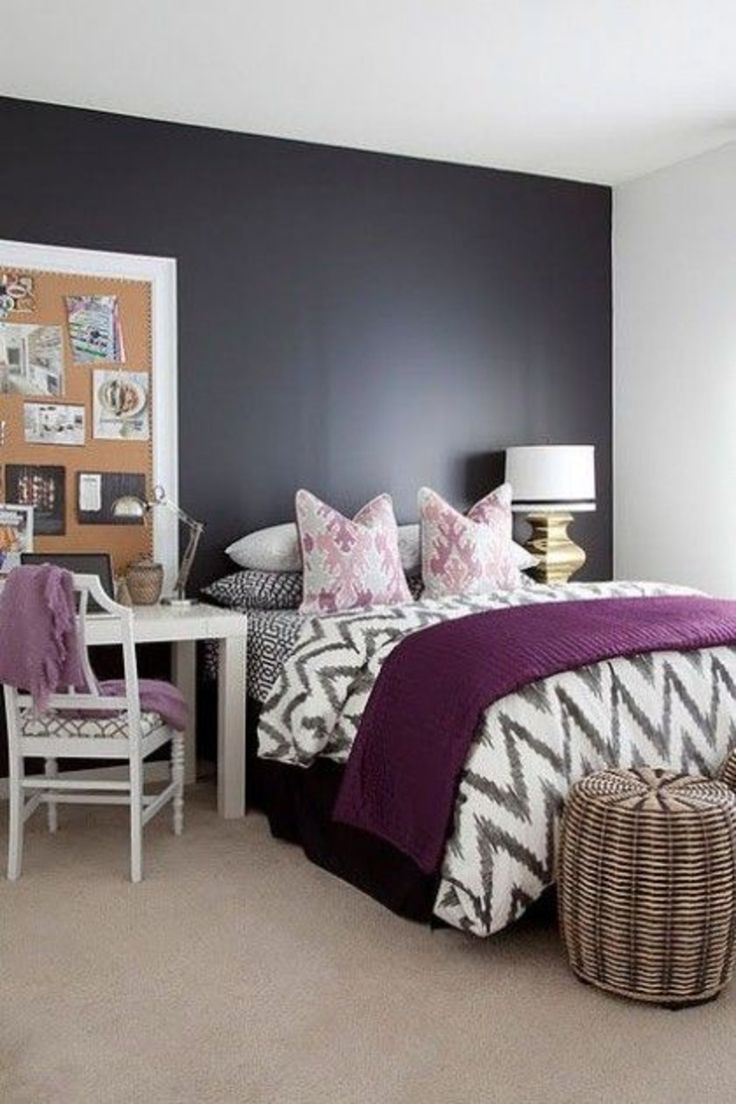 best 25 purple bedroom walls ideas on pinterest bedroom 19523 | fb500941dd64571a26c1cdbfeea7fde5 bedroom black bedroom ideas