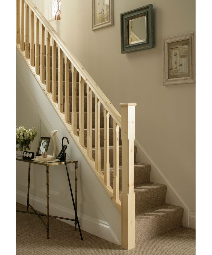 Scandanavian Pine Staircase Kit With 41mm Chamfered Spindles