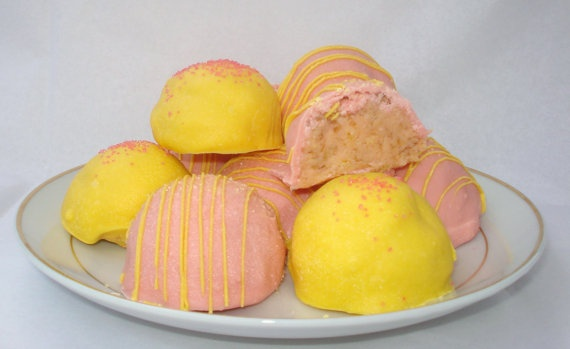 Bitty Bites: Strawberry Lemonade Cake Bites | Strawberry Lemonade Cake ...